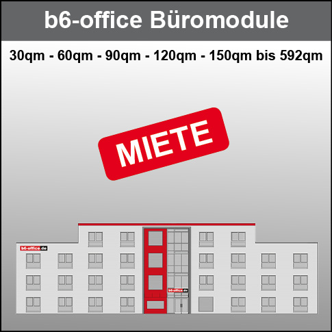 b6-office Büromodule Miete