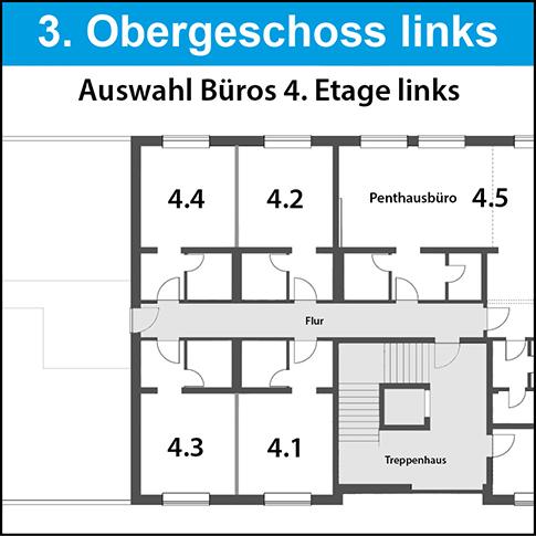 3. OG - Penthaus links 1a Traum-Büros frei, 130qm - mit Terrasse! Sofort bezugsfertig. Einzigartig in Garbsen.