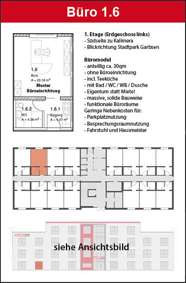 Teeküche kaufen  Büromodul 1.4 – EG links Kauf | b6-office.de