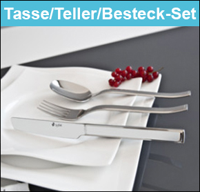 b6-office-Tasse-Teller-Besteck-Set