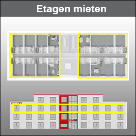 Halbe- / Ganze- Etage (nur wenn verfügbar) Konferenz-Raum- und Besprechungs-Raum Jahresmiete
