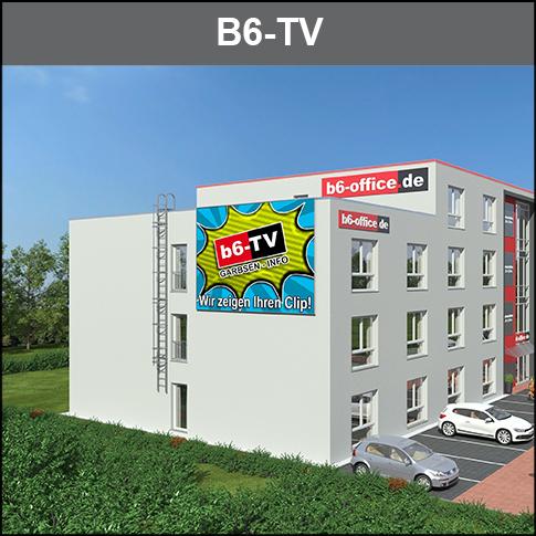 Groß-Bild TV an der B6. Aktives Digital-Display. Ihre erfolgreiche Werbung mit tgl. über 80.000 Blickkontakten. Info und Entertainment.