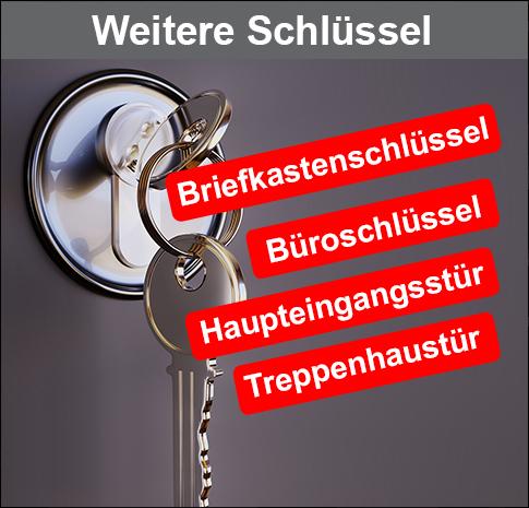 Weitere Schlüssel Sonder- und Nachbestellungen Verlorene Schlüssel, Schliessanlage, Zugangschips und Öffnungszeiten